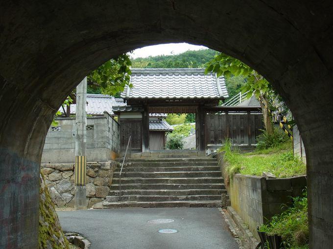 蕪村の俳諧仲間の住職のいた真照寺と無縁寺。