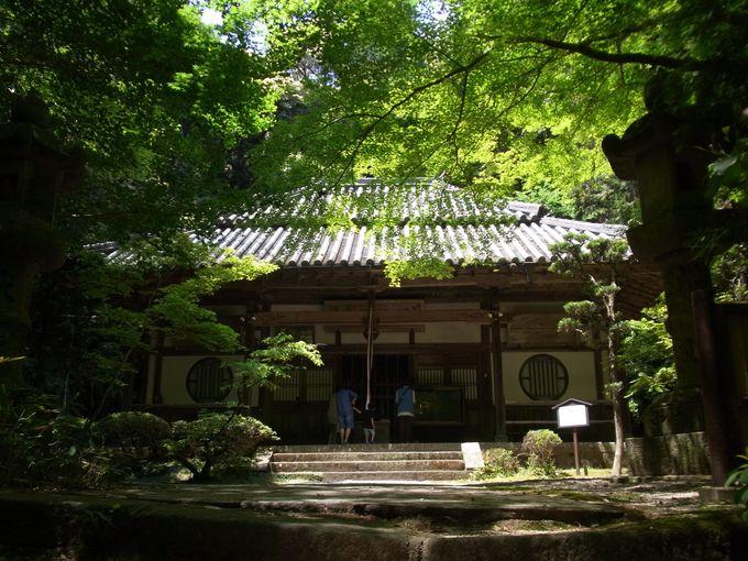 全国でも珍しい十一面観音磨崖仏を本尊とする王龍寺