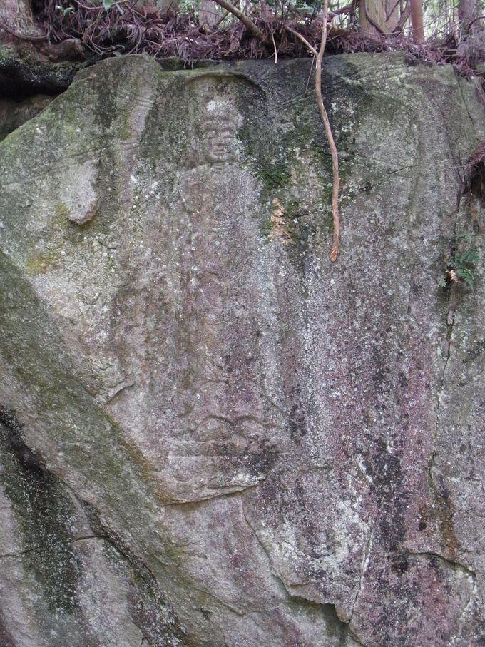 滝山磨崖仏と呼ばれて愛されてきた阿弥陀立像
