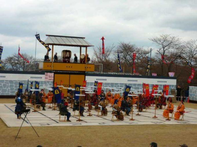 4月に人間将棋が行われる会場。