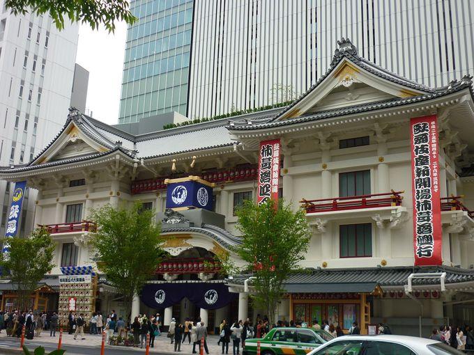 歌舞伎座全体像を撮るなら地下鉄「東銀座駅」4番出口へ