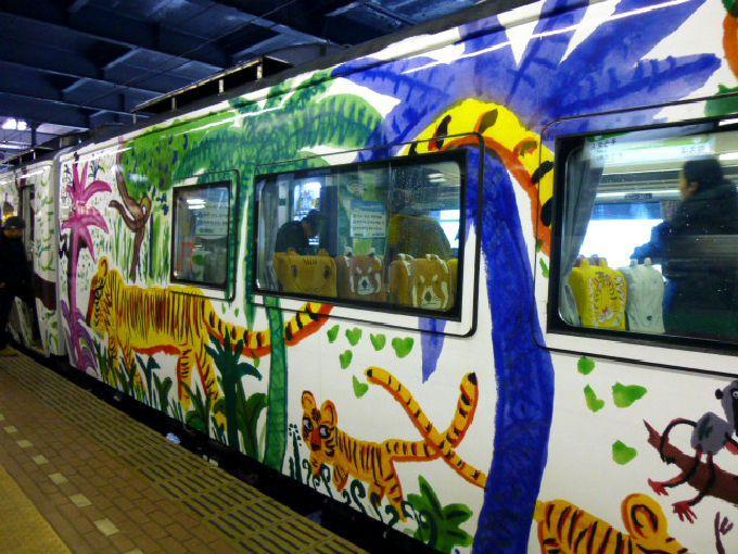 電車全体が動物の棲み家