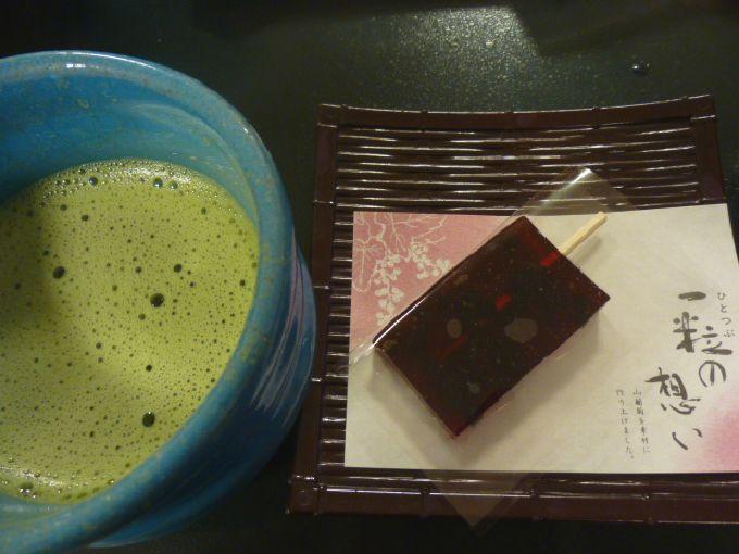 朝食後のお薄(お抹茶)