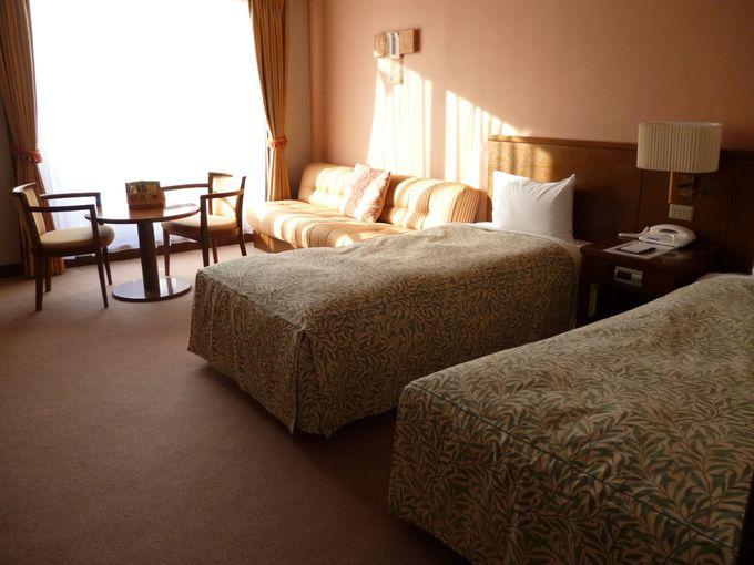 お部屋や温泉で癒されるゲレンデ前のホテル