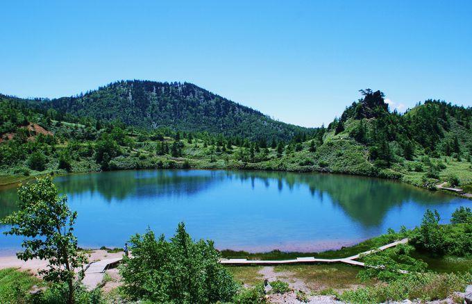 湯釜と正反対な静寂の湖・弓池!