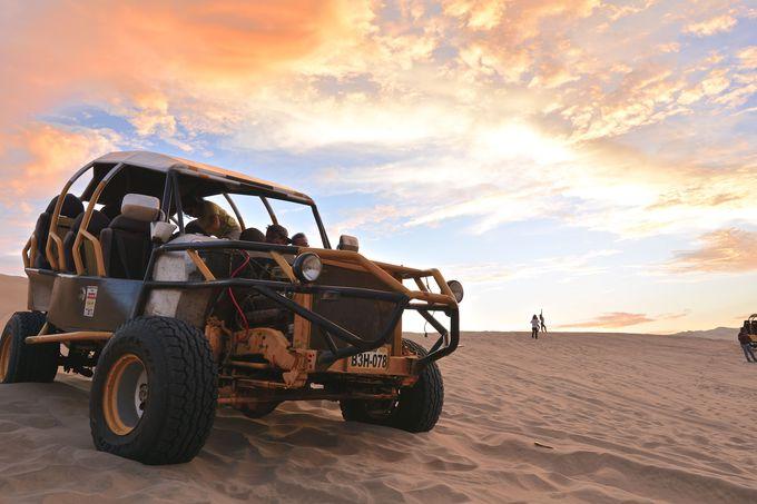 面白すぎてリピーター続出!サンドバギーで砂漠を爆走!