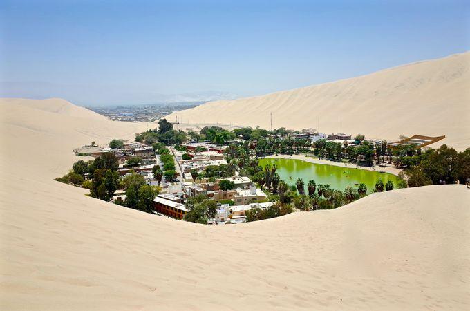 まさにオアシス!砂漠の中のリゾートワカチナ!