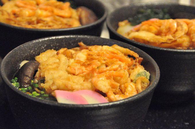 大きなかき揚げが魅力的♪年越し蕎麦は、贅沢にルームサービスで!