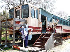 女城主の里に森の列車カフェ。岐阜「山岡駅かんてんかん」