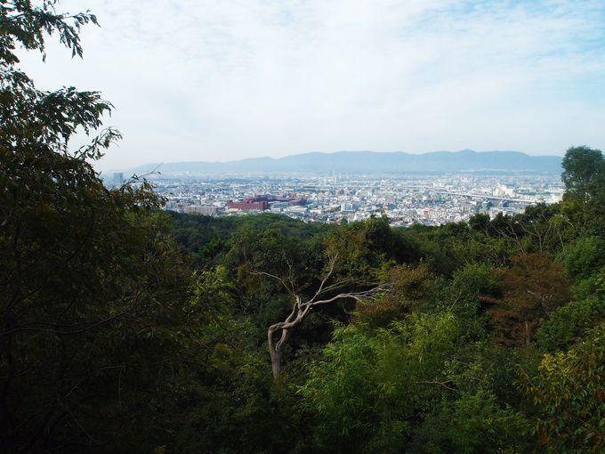 京都の町を一望!!立ち止まって一休み