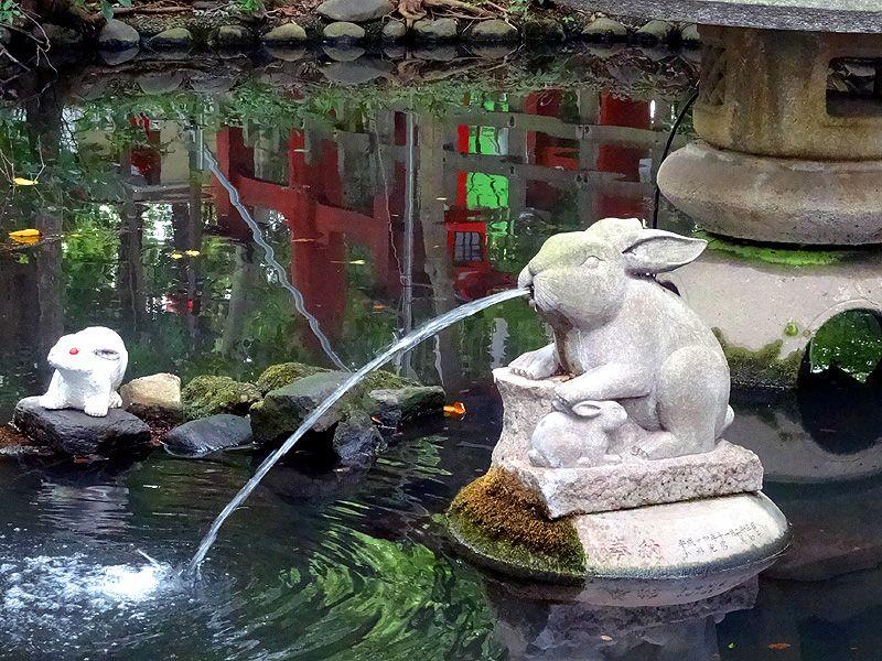 ウサギが幸福を呼ぶラッキー神社「調神社」