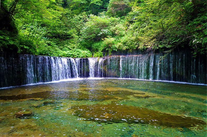 日本の絶景6、軽井沢・白糸の滝