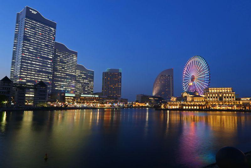 「みなとみらい」から大桟橋へ。横浜ベイエリア夜景逍遙