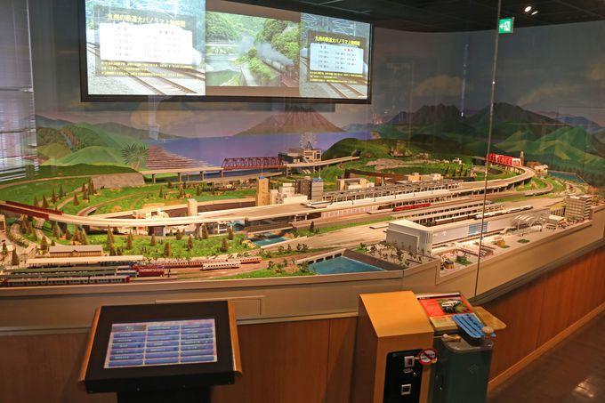 HOゲージの模型が走る九州の鉄道大パノラマ
