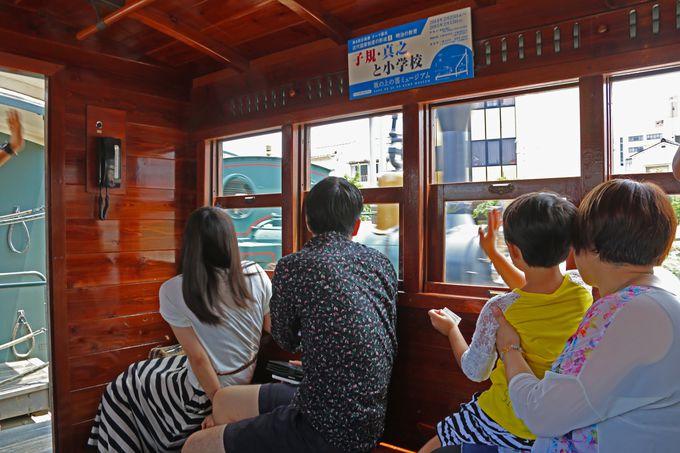 客車の中も昔の姿が再現されています