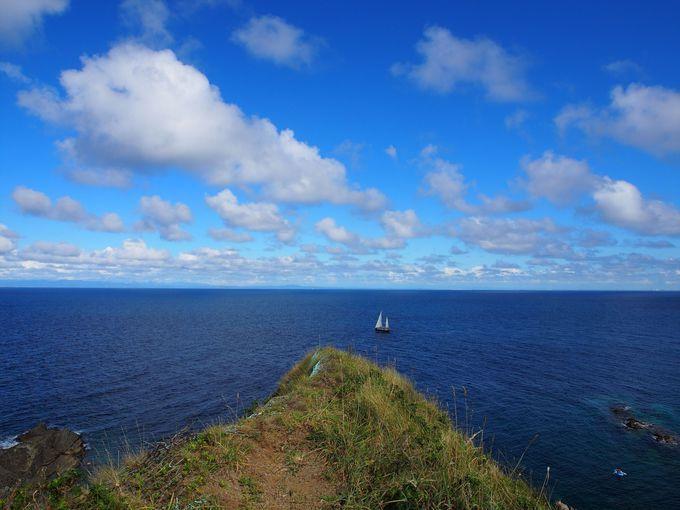 小樽市鰊御殿のある岬は、まさに展望スポット