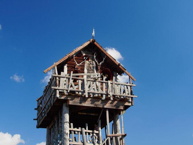 アクティビティ気分を味わえる木造展望塔