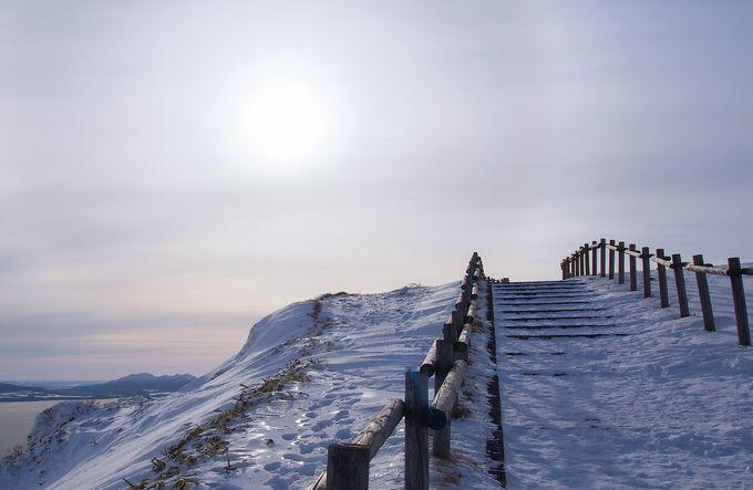 冬の美幌峠では必須!滑らない靴と温かい服装を装備しよう