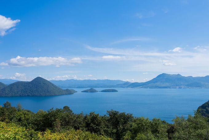 シャッターの押し甲斐がある洞爺湖の風景