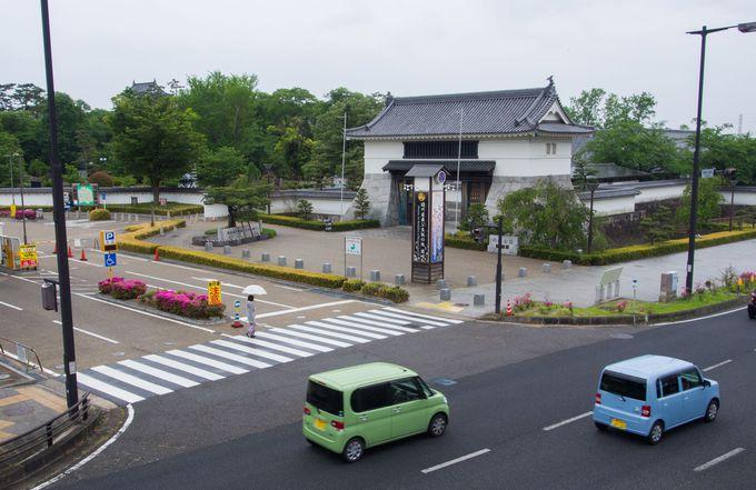 東海道や鉄道の駅からアクセスしやすい岡崎公園