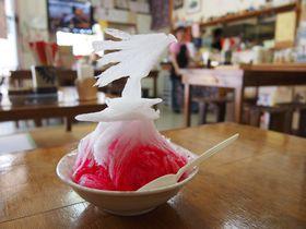 180秒で溶けちゃうアート!「米八そば」のカキ氷が美しい!|沖縄県|トラベルjp<たびねす>