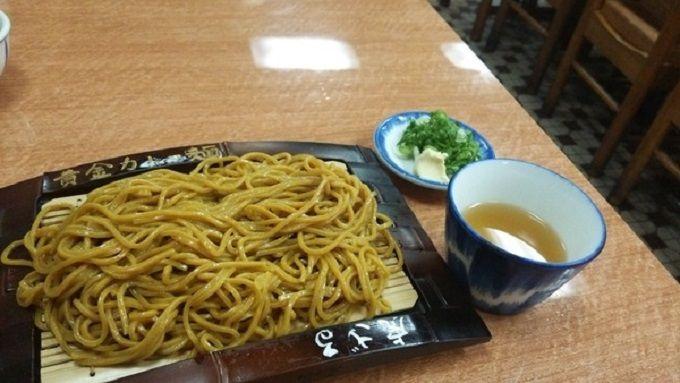 「力餅食堂」のカレー麺ざる