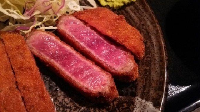 もはや刺身の領域!レアな揚げ加減の牛カツ屋「壱弐参」