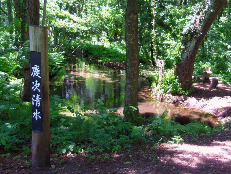 当時と変わらぬ風景が魅力〜前田慶次が使っていた「慶次清水」