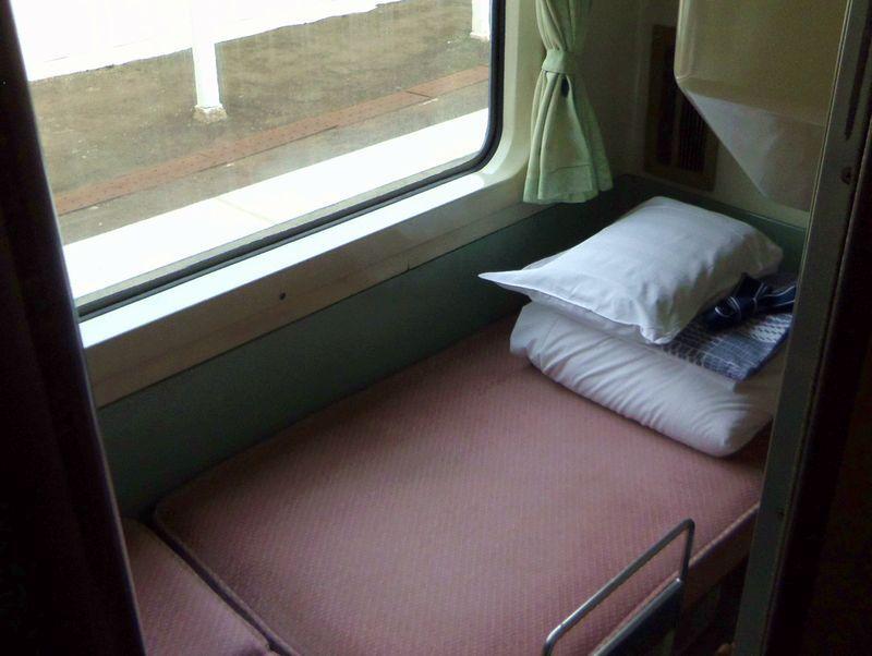 列車ホテル「ブルートレインあけぼの」B寝台個室ソロ