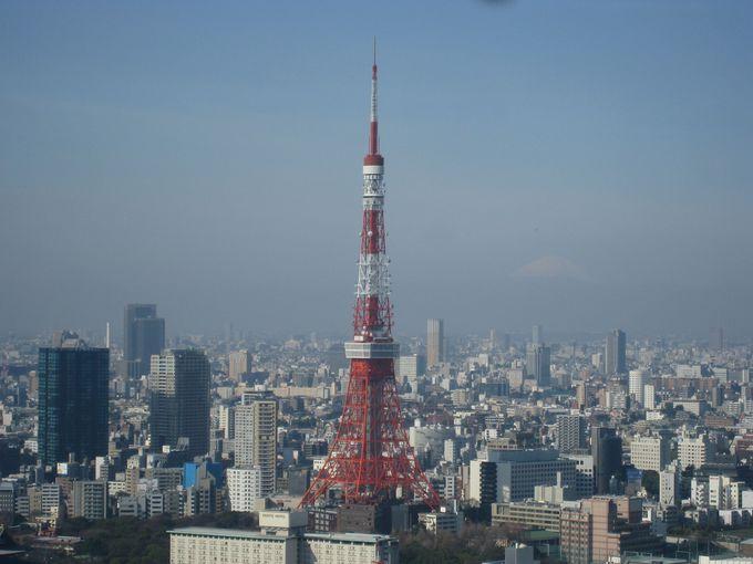 ロイパ汐留の醍醐味はコレ!空気が澄んだ朝には東京タワーが良く見えます!