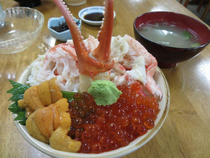 ウニ!カニ!イクラ!「味処たけだ」でてんこ盛り海鮮丼を!