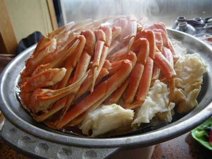 蟹刺身・焼き蟹・茹で蟹・蟹すき・蟹雑炊と蟹だけを食べる幸せ