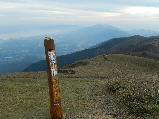 蓬莱山から打見山のなだらかな草原