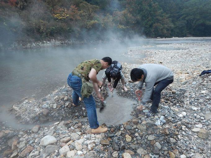 和歌山・奥熊野「川湯温泉みどりや」でマイ温泉を掘ろう!