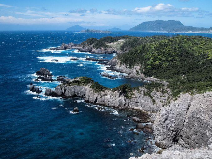 式根島随一の景観、神引展望台