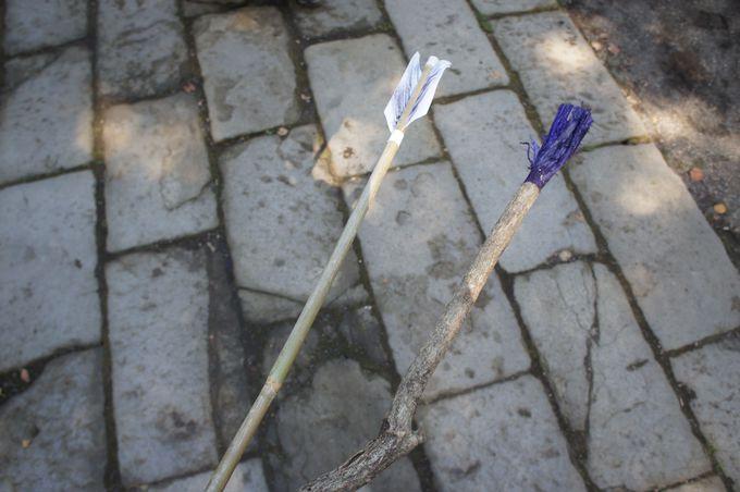 馬の鞭の形をした珍しい縁起物