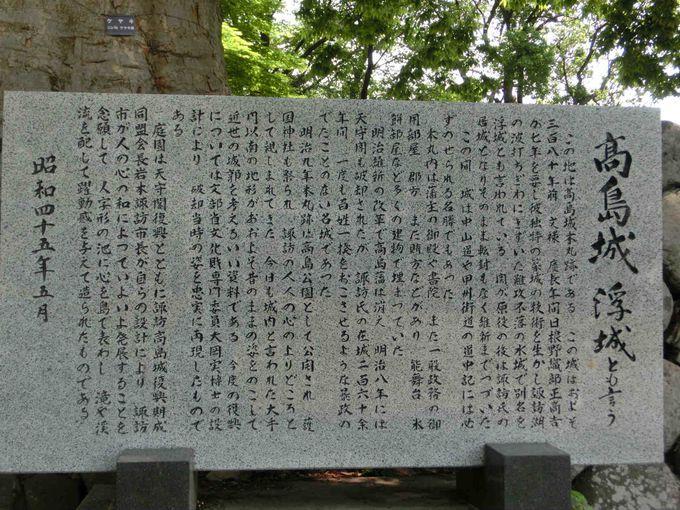 日本三大湖城のひとつ 「高島城」の歴史に迫る