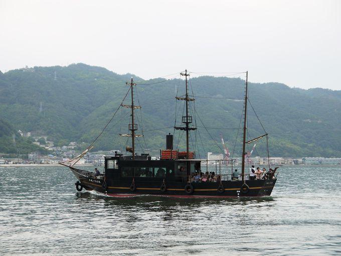 鞆の浦から「平成いろは丸」にのって仙酔島パワースポットに出発!