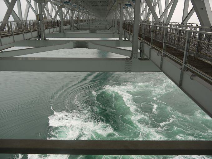 眼下に見る渦潮の迫力は想像を遙かに超える!