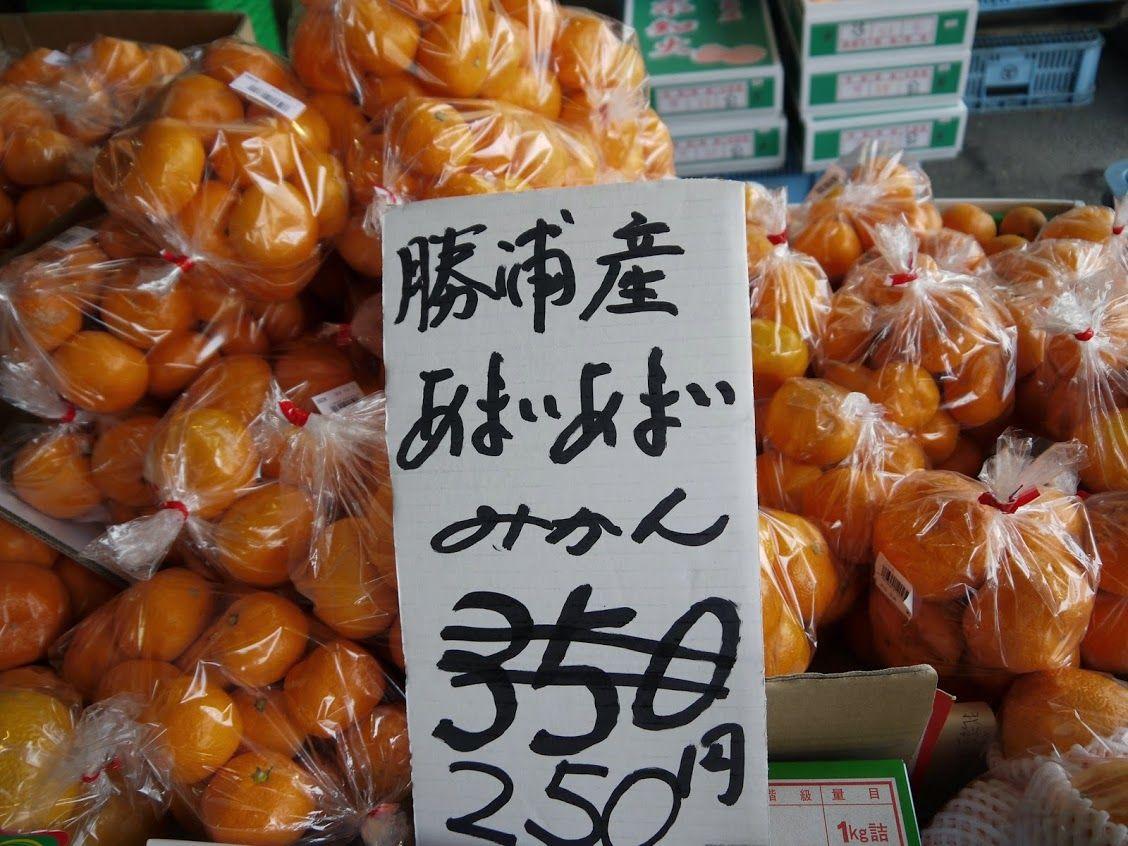 『ひな市』では果物や野菜が超特価♪「みかん」は絶対に買うべし!