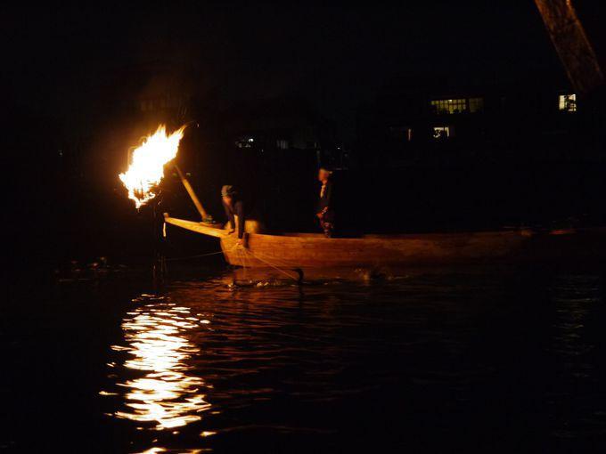 鵜舟と一緒に川を下って見られる「狩り下り」