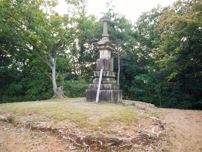 玉手山公園にある大阪夏の陣の供養塔