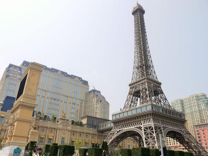 ザ・パリジャン・マカオに建つエッフェル塔