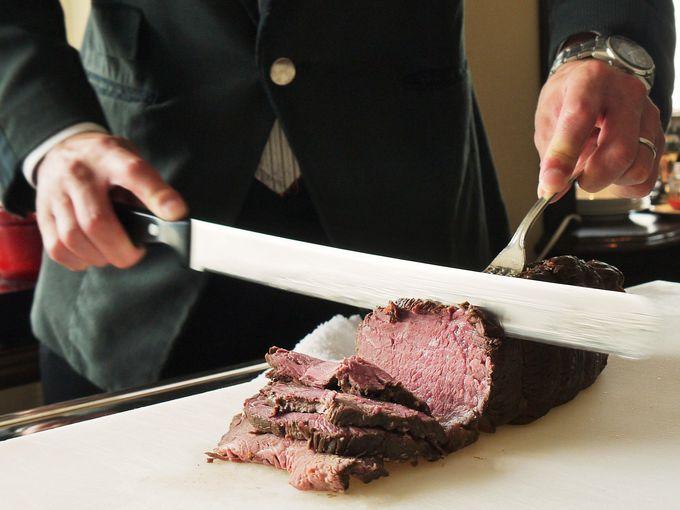 専用ラウンジ限定! 朝食に絶品黒毛和牛ローストビーフ