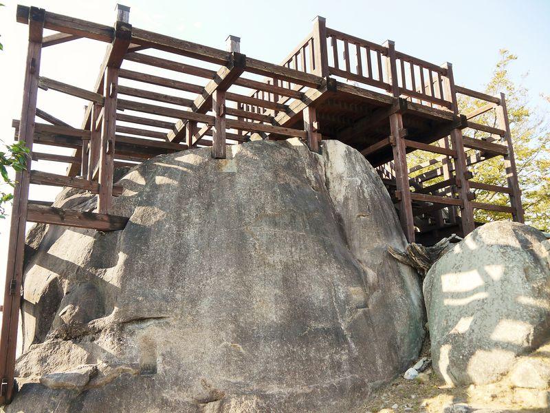 当時の構造をリアルに再現した天守展望台