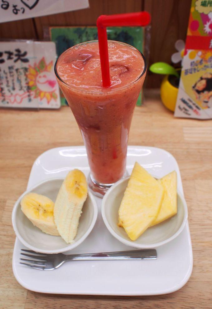 モーニング&おやつフルーツのおまけ付き!大須で一番のジュースバー!