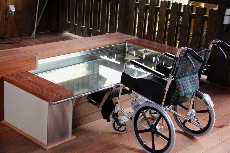 動線は全てバリアフリー!浴室まで車椅子可能
