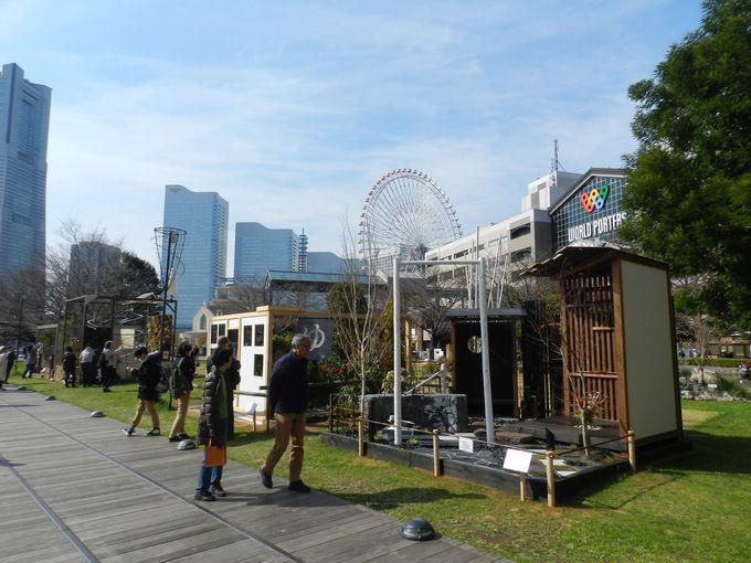 運河パーク〜新港中央広場 −趣向を凝らしたガーデンコンテスト作品群−