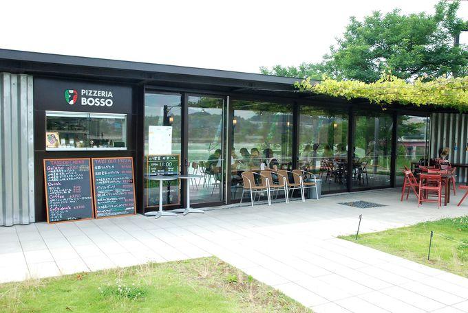 レストラン「Pizzeria BOSSO」は、地元食材を豊富に使ったピザが美味しい。