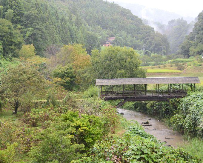 屋根付き橋がノスタルジック!愛媛県内子町の里山を散策